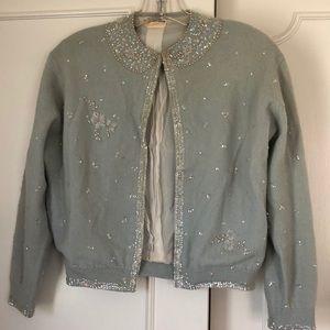 Vintage 50's beaded cardigan m
